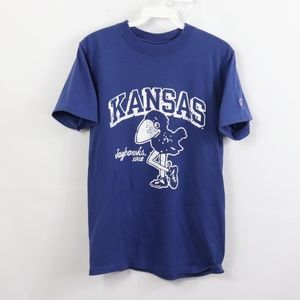 90s Champion Mens Small Kansas Jayhawks T Shirt